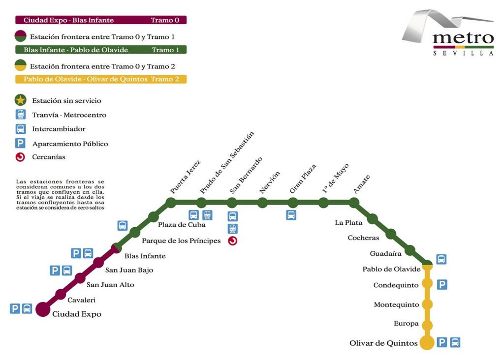 Plano metro Sevilla